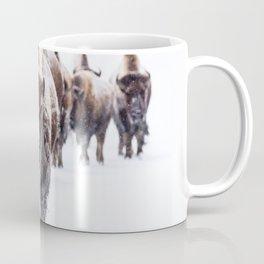 Bison, American Animal, Bufallo, Winter Coffee Mug