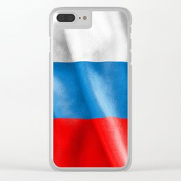 Russian Federation Flag Clear iPhone Case