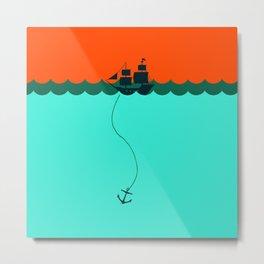 Ship Trapped Metal Print