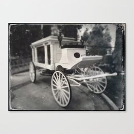 Haunted Mansion Hearse by Topher Adam 2017 Canvas Print