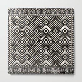 N82 - Geometric Traditional Moroccan Art Pattern Farmhouse Style Metal Print