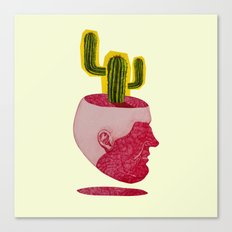 cactus man Canvas Print
