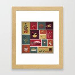 Vintage Food Collage Old Style Framed Art Print