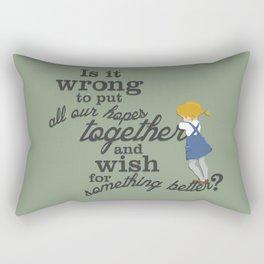 Something Better Rectangular Pillow
