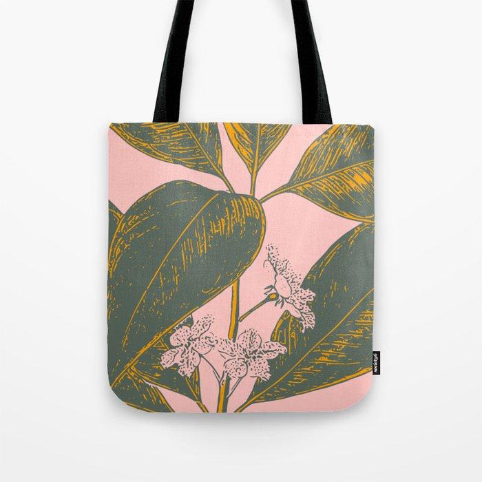 Modern Botanical Banana Leaf Tote Bag
