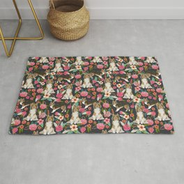 Sheltie dog lover gifts shetland sheep dog must have unique pet portrait florals dog pattern Rug