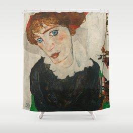 Portrait of Wally by Egon Schiele Shower Curtain