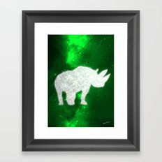 Space Rhino Framed Art Print