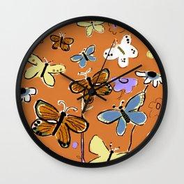 Butterflies Butterflies Wall Clock