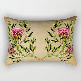 trad ruby roses Rectangular Pillow