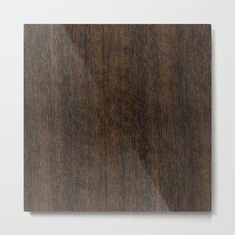 Smoked Etimoe Wood Metal Print