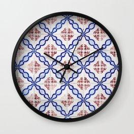 Portuguese Tiles 4 Wall Clock