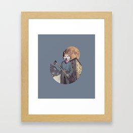 The killer dog Framed Art Print