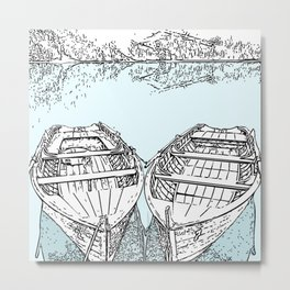 boats tied Metal Print