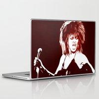 tina crespo Laptop & iPad Skins featuring Tina - Pop Art by William Cuccio aka WCSmack