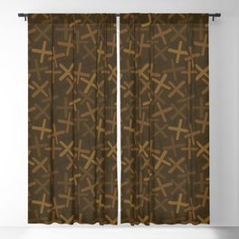 Chestnut - X-Plosion Decorative Pattern Blackout Curtain