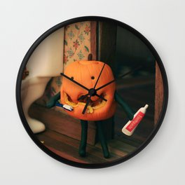 Pumpkin Hygiene Wall Clock