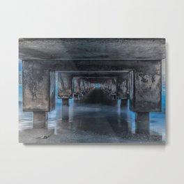 Under the Pier at Hanalei Metal Print