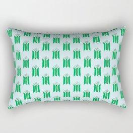 Vegetable: Snap pea Rectangular Pillow