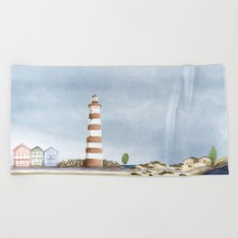 Aveiro landscape Beach Towel