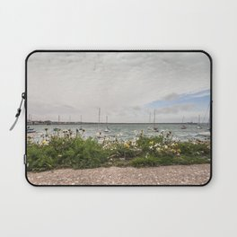 Flowery pier at the docks (Ireland) Laptop Sleeve