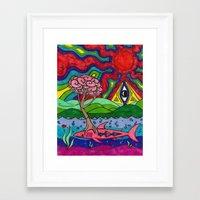 swim Framed Art Prints featuring Swim by Ichsjah