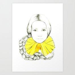Frill Neck Lady Art Print