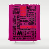radiohead Shower Curtains featuring Writer's Block • No Surprises - Alarming by Christophe Gowans' Writer's Block