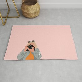 A Girl and her Camera Rug