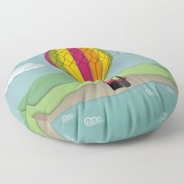 Balloon Aeronautics Sea & Sky Floor Pillow
