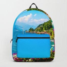 Varenna, Como Lake, Italy. Backpack