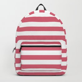 Large Nantucket Red Horizontal Sailor StripesLarge Nantucket Red Horizontal Sailor Stripes Backpack
