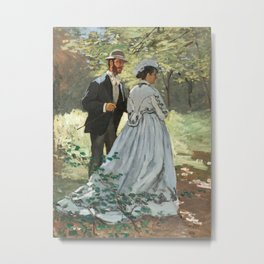 Claude Monet - Bazille and Camille Metal Print