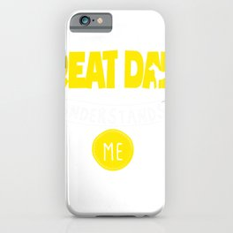 Great Dane Design Only My Great Dane Understands Me Yellow iPhone Case
