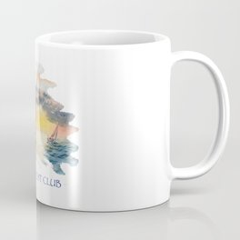 Sailing Yacht Club Blue Words Color Coffee Mug
