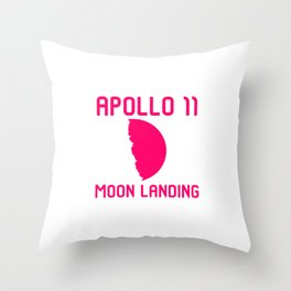 Apollo 11 Moon Landing 1969 50th Anniversary Quote Throw Pillow