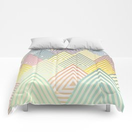 Pastel Mountains Comforters