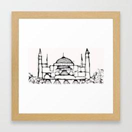 Hagia Sophia, Istanbul, Turkey Framed Art Print