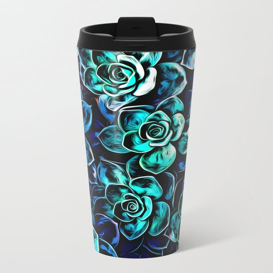 Succulent Plants Metal Travel Mug