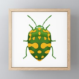 Physic Nut Stink Bug Framed Mini Art Print