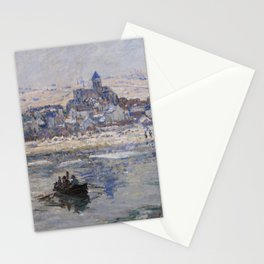 Vétheuil in Winter Stationery Cards