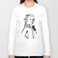 mozart Long Sleeve T-shirts featuring Wolfgang Amadeus Mozart by bananabread
