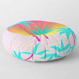 Hello Miami Sunset Floor Pillow