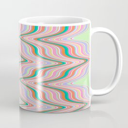 Infinity, retro colors of abstract ikat chevron pattern Coffee Mug