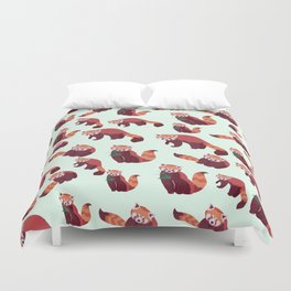 Red Panda Pattern Duvet Cover