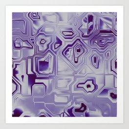 Purple technology Art Print