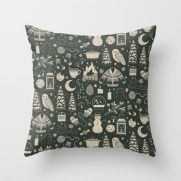 Winter Nights: Forest Throw Pillow
