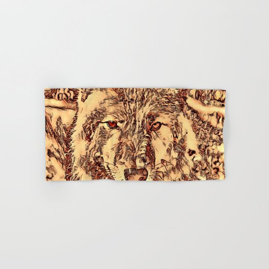 Animal ArtStudio - amazing Wolf Hand & Bath Towel