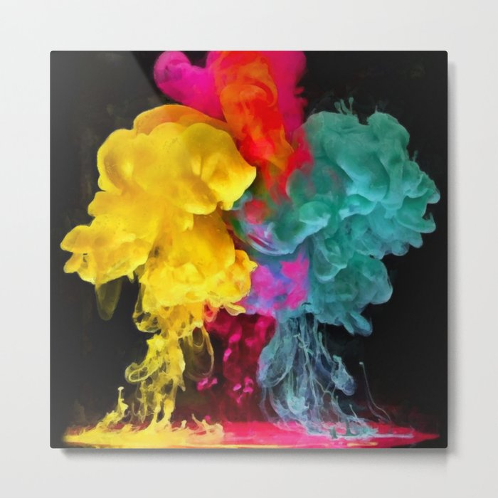 Multicolored ink in water Metal Print