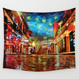French Quarter Under the Stars Wall Tapestry